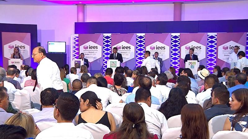 Destacan participación de candidatos en el debate entre candidatos a la alcaldía