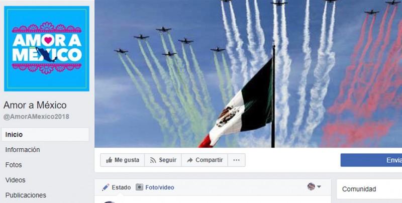 Amor a México, página que difunde noticias falsas duplica seguidores en dos meses