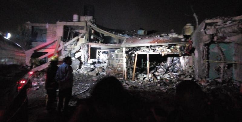 Siete muertos y ocho heridos por explosión pirotécnica en Edomex