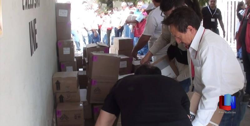 Más de 849 mil boletas electorales llegan a Navojoa