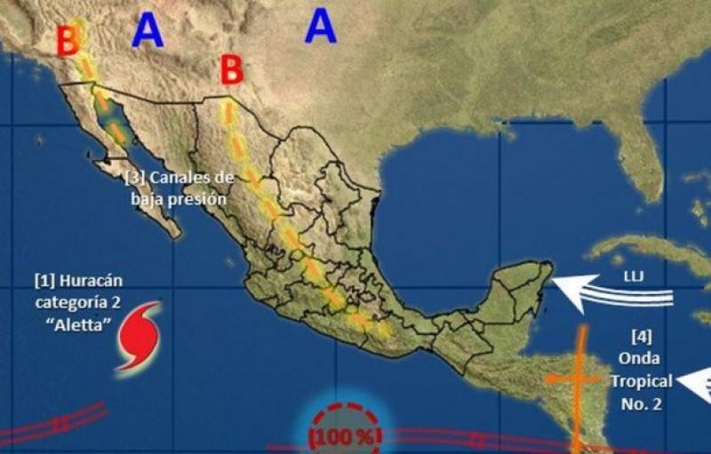 El huracán Aletta ya es de categoría 2