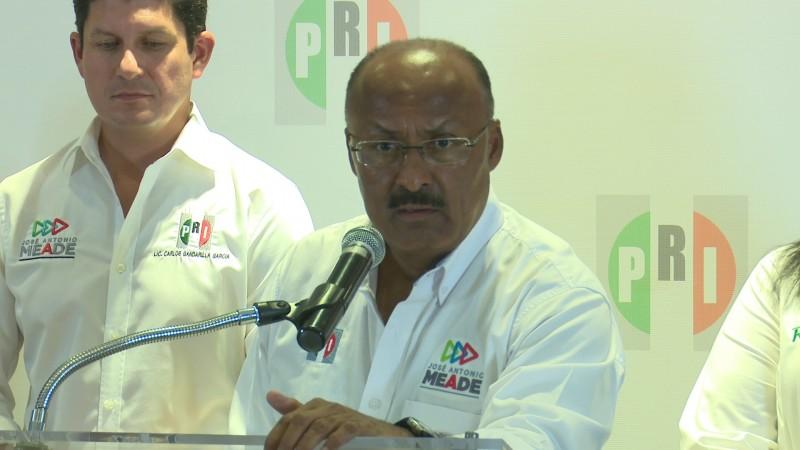 Dirigente nacional del PRI asegura triunfo de Meade