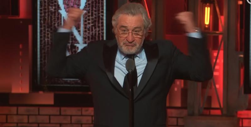 Robert De Niro insulta al Presidente Trump durante los premios Tony