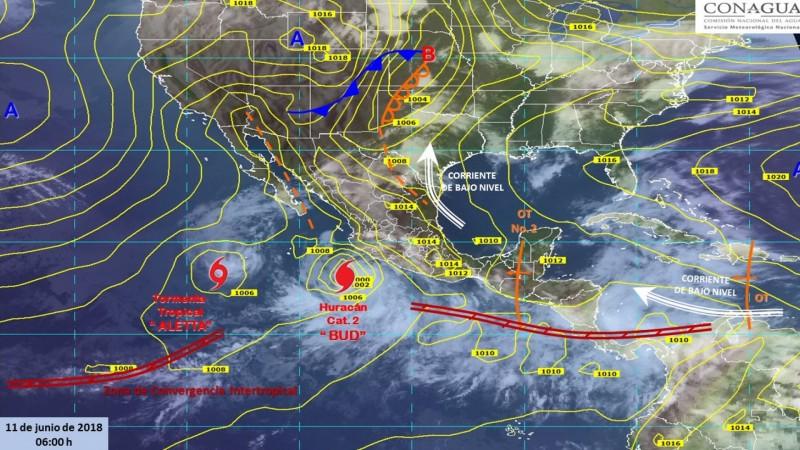 Alerta verde en Ahome por el huracán BUD