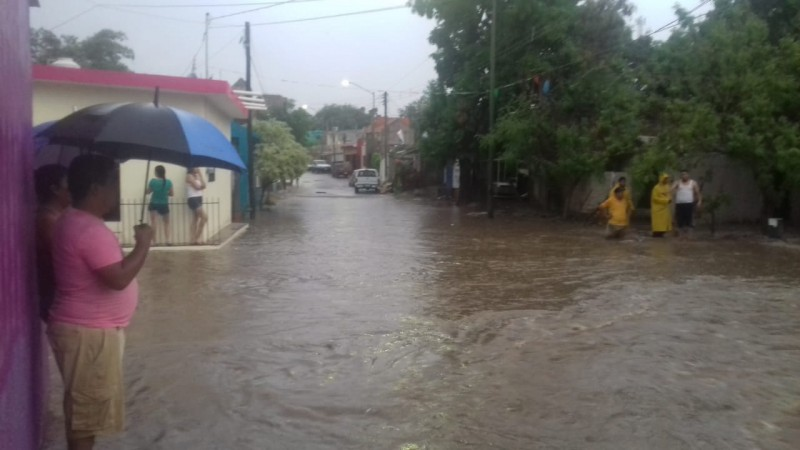 Se registran lluvias en el sur de Sinaloa