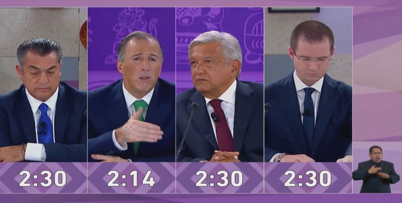 Desaprovechan candidatos a la Presidencia el último debate