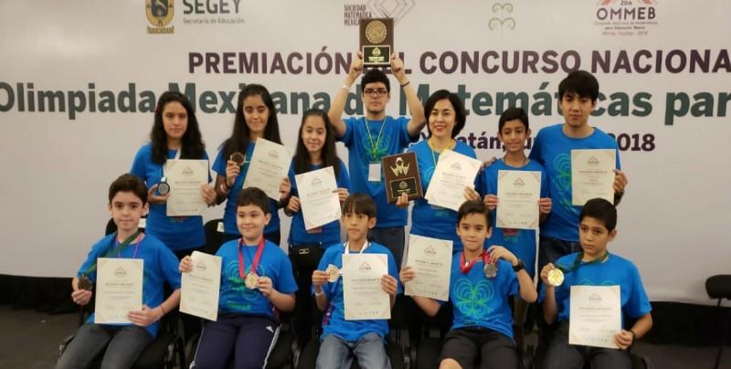 7 medallas en la II Olimpiada Nacional de Matemáticas son para Sinaloa