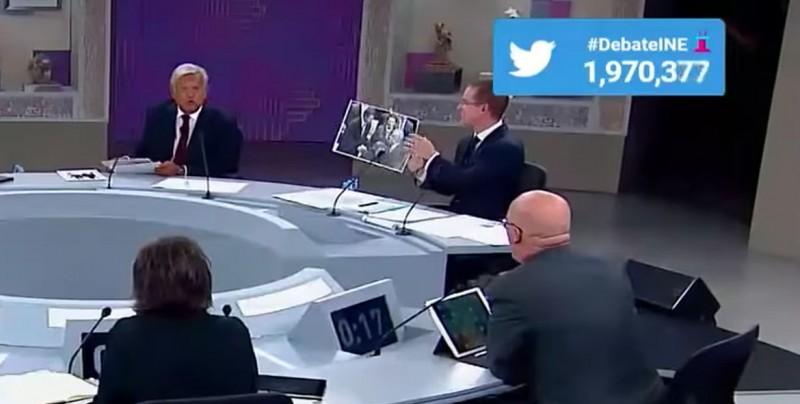 La fotografía que mostró Anaya sobre Obrador y Peña es de 2012