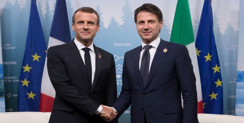 Conte mantiene su reunión con Macron tras sus discrepancias por el Aquarius