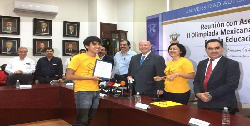UAS reconoce desempeño en Olimpiada Mexicana Matemáticas para Educación Básica