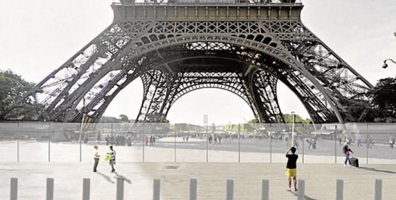 La Torre Eiffel se protege con un nuevo perímetro de hierro y vidrio