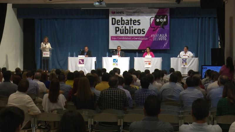 Debaten candidatos de la diputación local del distrito 05