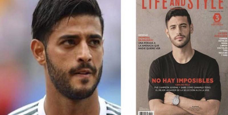 """Acusan a revista de racista por """"aclarar"""" la piel de Carlos Vela"""