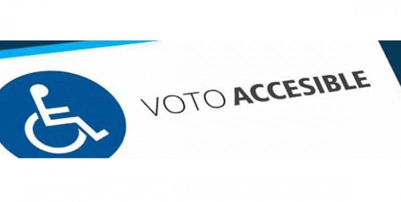 ¿Qué medidas se implementarán en las casillas para que las personas con discapacidad puedan votar?