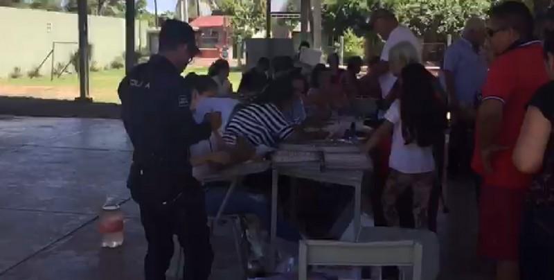Policías vigilan elecciones en Navolato