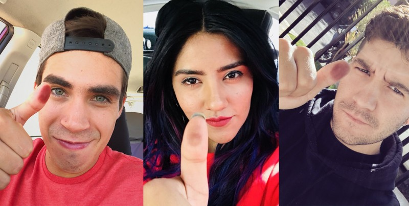 Pulgares manchados y vídeo viral protagonizan las redes en jornada electoral