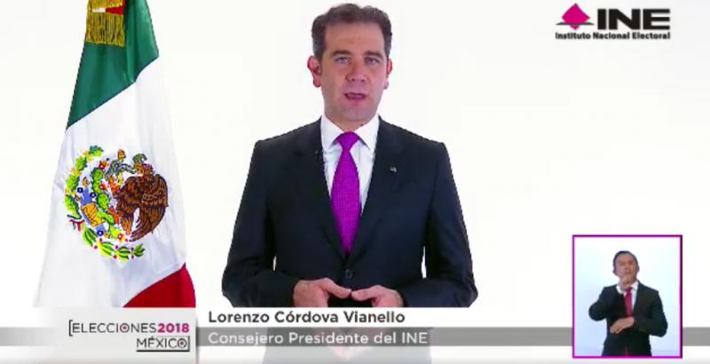 Lorenzo Córdova da mensaje sobre los resultados del conteo rápido