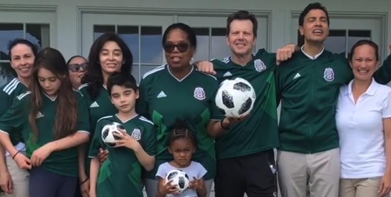 Oprah Winfrey apoya a México en el partido México vs. Brasil