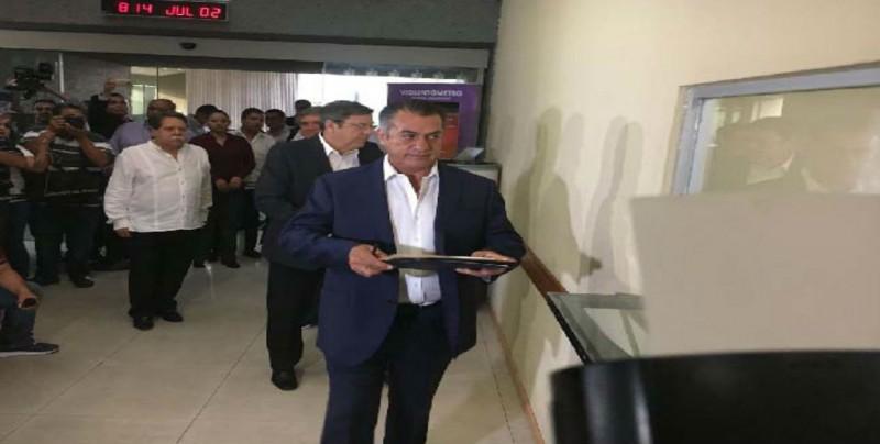 """""""El Bronco"""" notifica retorno a Gubernatura de Nuevo León"""