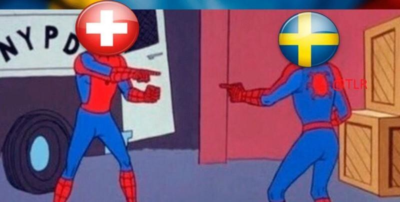 Los memes que dejó el partido Suecia vs Suiza
