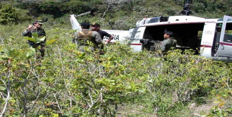 Policía de Perú incauta 2,5 toneladas de hoja de coca en mayor valle productor