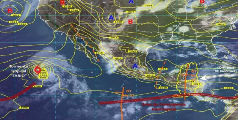 Onda tropical provocará lluvias al sureste del país