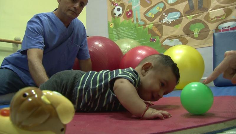 Exitoso programa de estimulación temprana