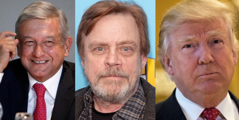 Luke Skywalker responde tuit de Donald Trump sobre AMLO