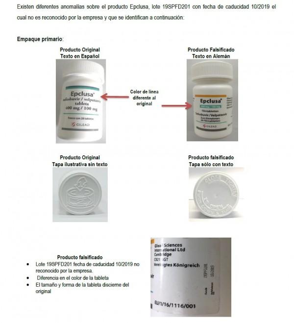 COEPRISS  emite alerta sanitaria sobre producto falso para tratamiento de hepatitis C