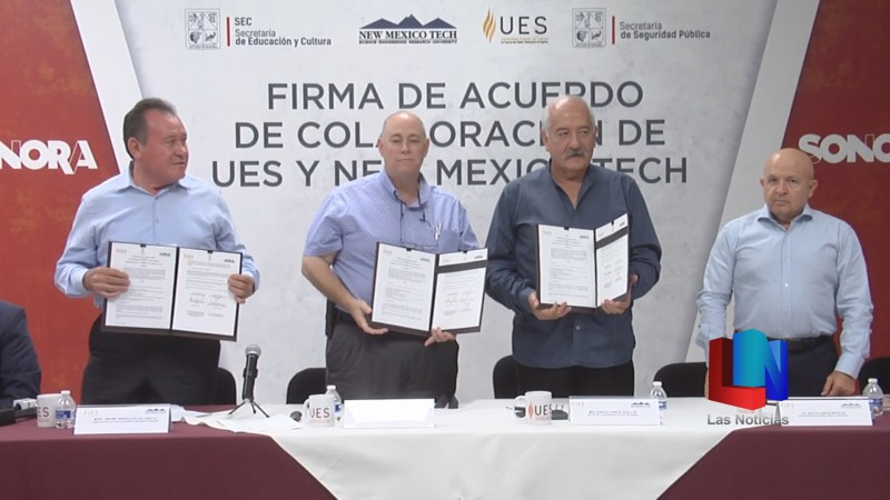 Firma convenio UES con Nuevo México