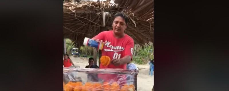 Así se venden los mangos en Mazatlán