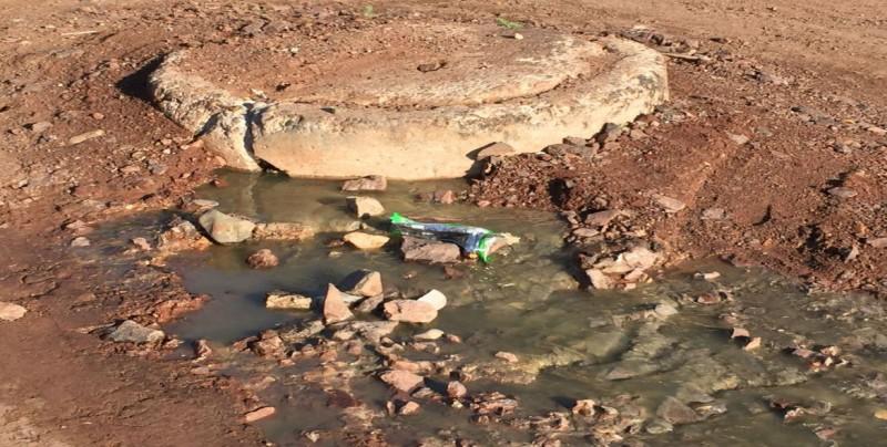 Fuga de drenaje desde hace varios días en colonia 22 de Diciembre