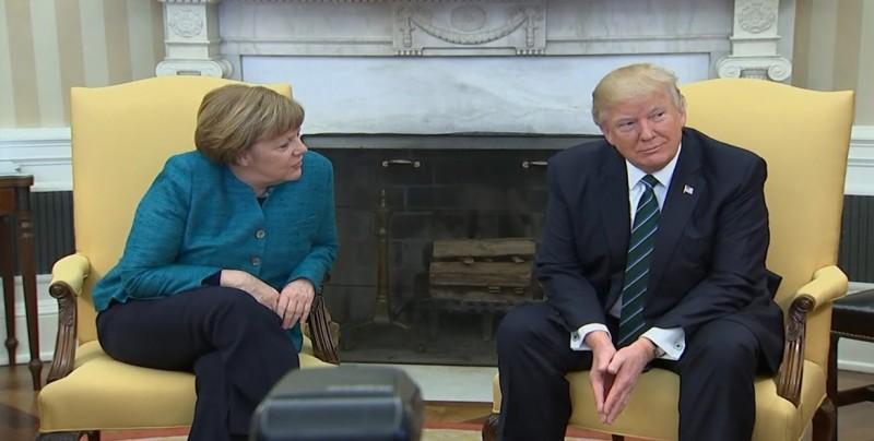 Trump y Merkel aseguran que mantienen una buena relación, pese a las críticas