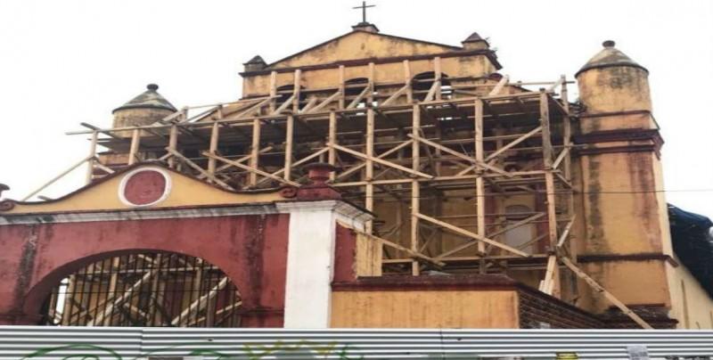 En un 30% reconstrucción de monumentos históricos dañados por sismo en Chiapas
