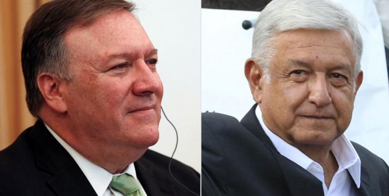 Pompeo y altos funcionarios llegan a México para reunirse con López Obrador