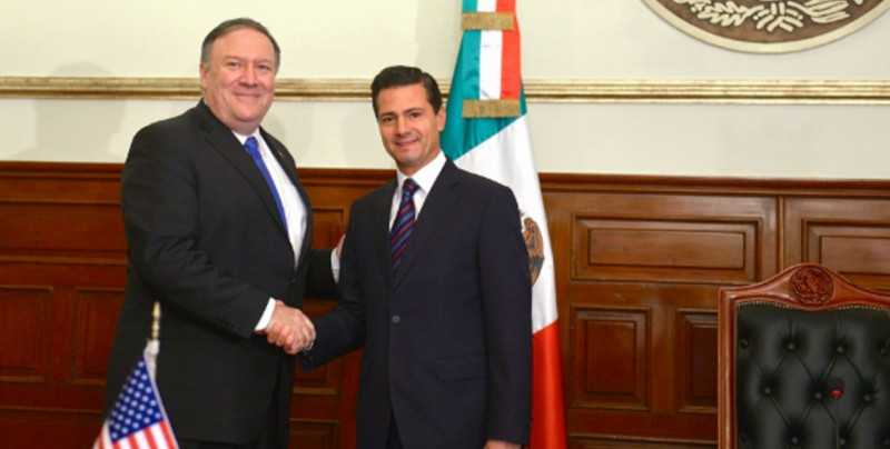 Termina reunión de comitiva estadounidense y Peña Nieto