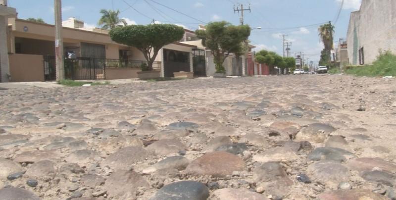 Calles empedradas lo que queda del viejo Culiacán