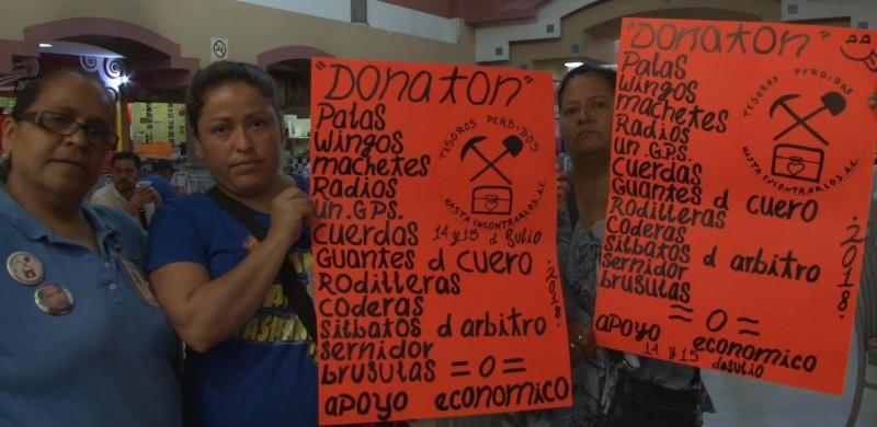 Rastreadoras buscan recibir donaciones de los mazatlecos