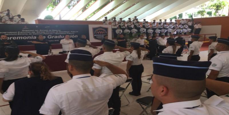 Se gradúan 65 Cadetes del Instituto Estatal de Ciencias Penales