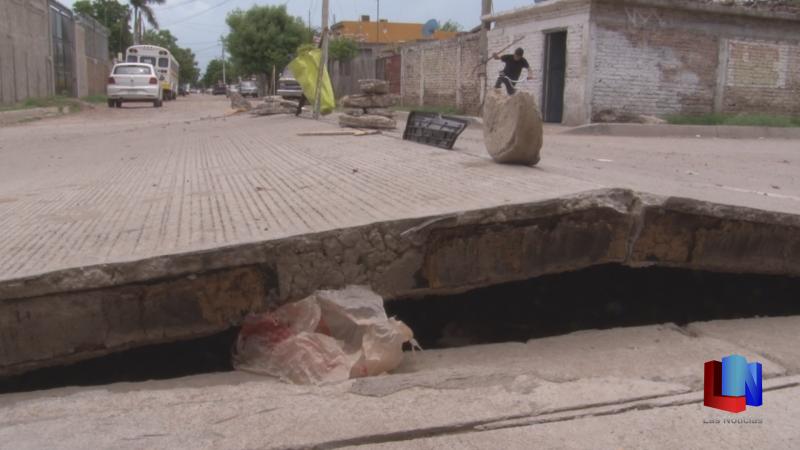 En Cajeme, aparece nuevo levantamiento del concreto