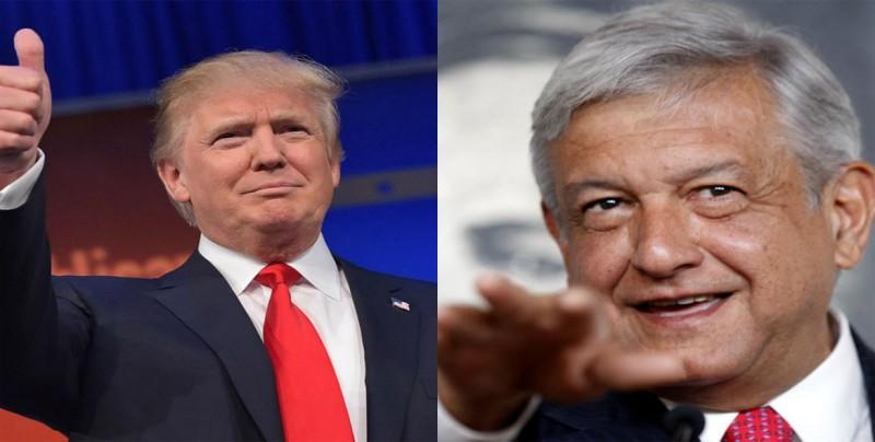 Trump presume de avances en su negociación comercial con López Obrador