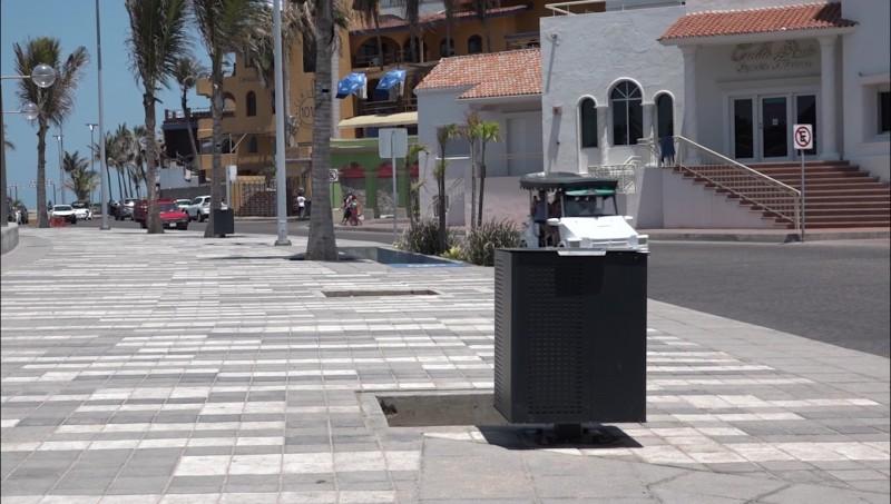 Instalan nuevos contenedores de basura en Olas Altas