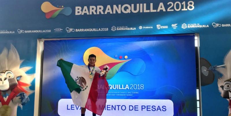 Medalla de oro para México en halterofilia en Barranquilla 2018