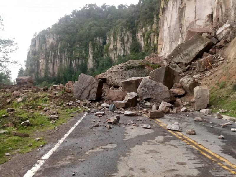 Cerrada carretera Mazatlán-Durango