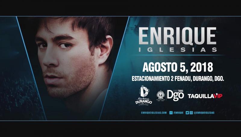 Concierto de Enrique Iglesias al 2X1 en Durango