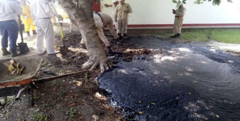Sorprende brote de petróleo en escuela de Tamulipas