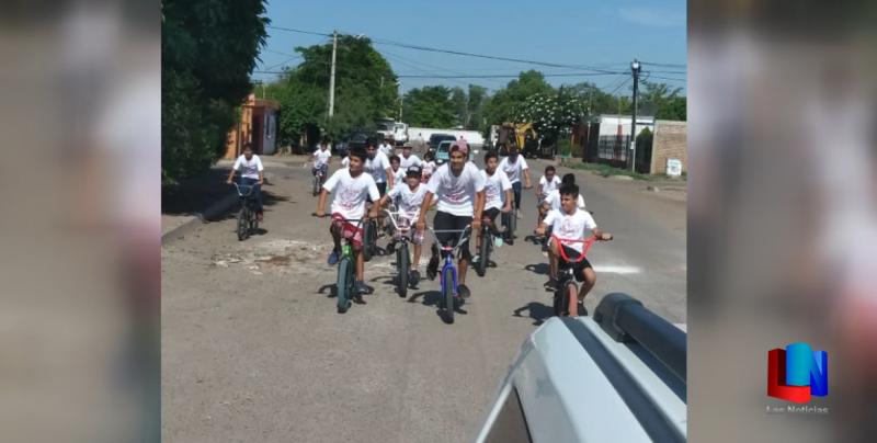 Culminan cursos de prevención con pedaleada en Cajeme