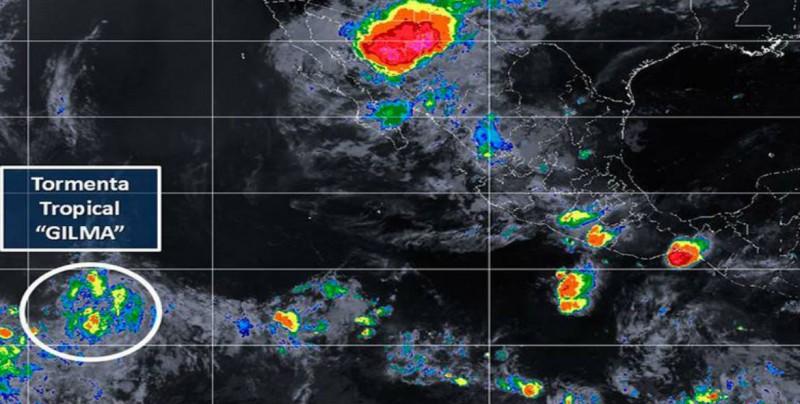 """Se forma la tormenta tropical """"Gilma"""" en el Pacífico"""