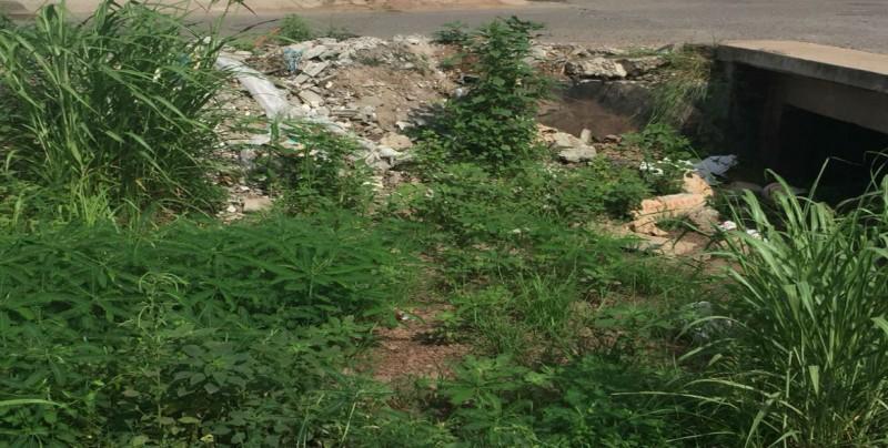 En deterioro arroyo en el sector de Santa Fe