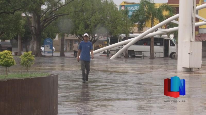 En Cajeme, lluvia cambia el clima